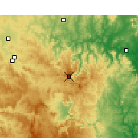 Nearby Forecast Locations - Nullo Mount. - карта