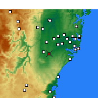 Nearby Forecast Locations - Campbelltown - карта