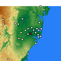 Nearby Forecast Locations - Bankstown - карта