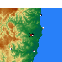 Nearby Forecast Locations - Kempsey Аэропорт - карта