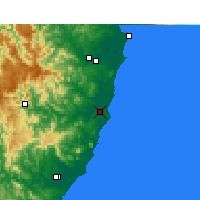 Nearby Forecast Locations - Port Macquarie - карта