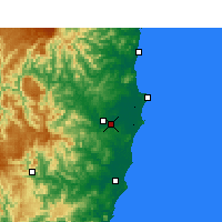 Nearby Forecast Locations - Kempsey - карта