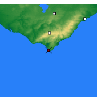 Nearby Forecast Locations - Cape Otway - карта