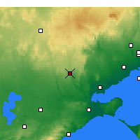 Nearby Forecast Locations - She Oaks - карта