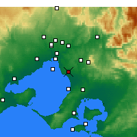 Nearby Forecast Locations - Moorabbin - карта