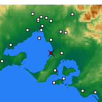 Nearby Forecast Locations - Frankston - карта