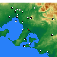 Nearby Forecast Locations - Cranbourne - карта