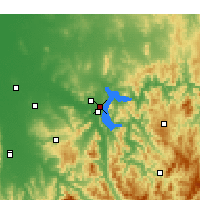 Nearby Forecast Locations - Hume Dam - карта