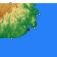 Nearby Forecast Locations - Mallacoota - карта