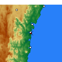 Nearby Forecast Locations - Moruya Heads - карта