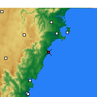 Nearby Forecast Locations - Ulladulla - карта
