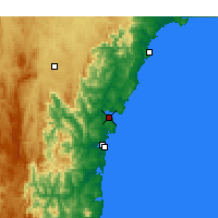 Nearby Forecast Locations - Batemans Bay - карта