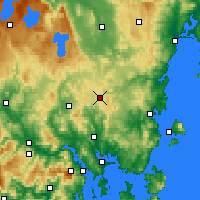 Nearby Forecast Locations - Tunnak - карта
