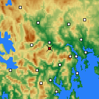 Nearby Forecast Locations - Moogara - карта