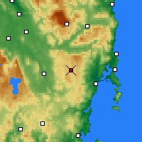 Nearby Forecast Locations - Lake Leake - карта