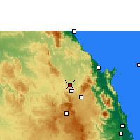 Nearby Forecast Locations - Mareeba Airfield - карта