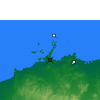 Nearby Forecast Locations - Karratha AP - карта