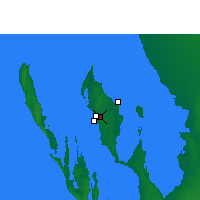 Nearby Forecast Locations - Shark Bay Аэропорт - карта