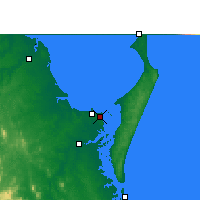 Nearby Forecast Locations - Hervey Bay AP - карта