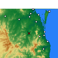 Nearby Forecast Locations - Beaudesert - карта