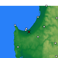 Nearby Forecast Locations - Busselton - карта