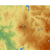 Nearby Forecast Locations - Ориндж аэропорт - карта