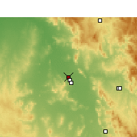 Nearby Forecast Locations - Gunnedah - карта