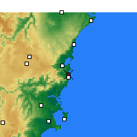 Nearby Forecast Locations - Kiama - карта