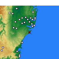 Nearby Forecast Locations - Wattamolla Aws - карта