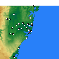 Nearby Forecast Locations - Kurnell - карта