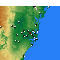 Nearby Forecast Locations - Homebush - карта