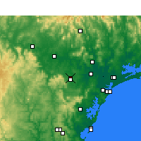 Nearby Forecast Locations - Cessnock - карта