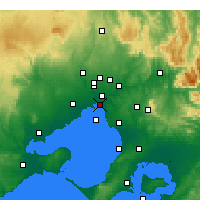 Nearby Forecast Locations - St Kilda (Melbourne) - карта