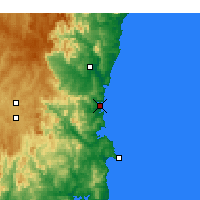 Nearby Forecast Locations - Merimbula - карта