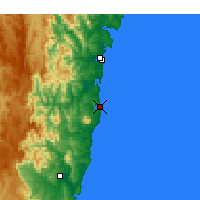 Nearby Forecast Locations - Narooma - карта