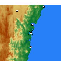Nearby Forecast Locations - Moruya Аэропорт - карта