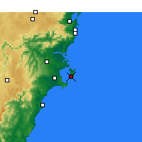Nearby Forecast Locations - Jervis Bay - карта