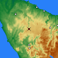 Nearby Forecast Locations - Waratah - карта