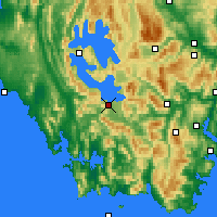 Nearby Forecast Locations - Scotts Peak - карта