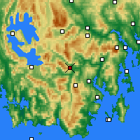 Nearby Forecast Locations - Warra - карта