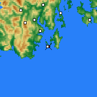 Nearby Forecast Locations - Cape Bruny - карта