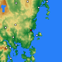 Nearby Forecast Locations - Orford - карта
