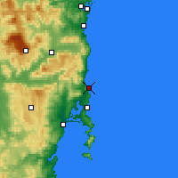 Nearby Forecast Locations - Bicheno - карта