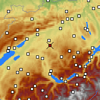 Nearby Forecast Locations - Бургдорф - карта