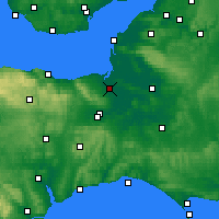 Nearby Forecast Locations - Бриджуотер - карта