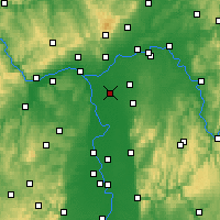 Nearby Forecast Locations - Грос-Герау - карта