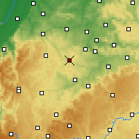 Nearby Forecast Locations - Бёблинген - карта