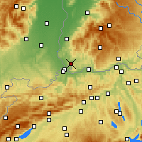 Nearby Forecast Locations - Лёррах - карта