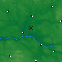 Nearby Forecast Locations - Seiches-sur-le-Loir - карта