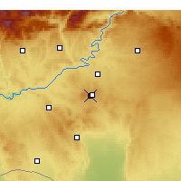 Nearby Forecast Locations - Şanlıurfa GAP Аэропорт - карта